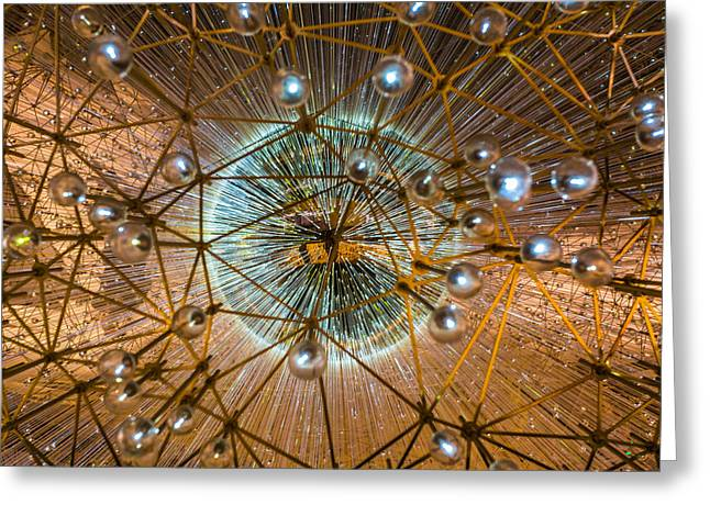 Geometric Artwork Greeting Cards - Inside Lucent Greeting Card by Lauri Novak