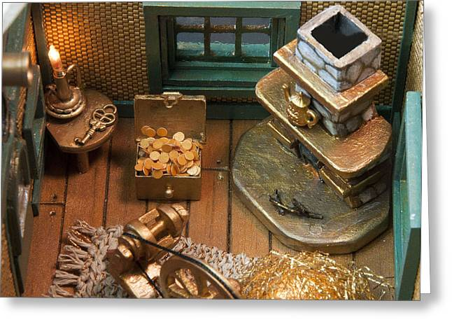 Wheels Sculptures Greeting Cards - Inside of Spin Teapot Greeting Card by Louise Hill
