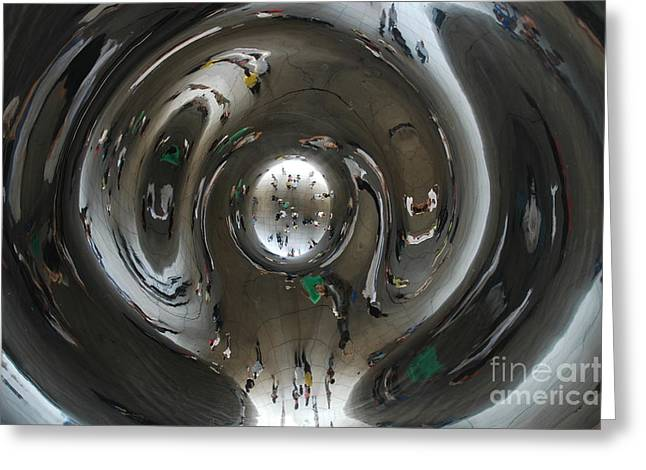 Distortion Greeting Cards - Inside the Bean Greeting Card by Miguel Celis