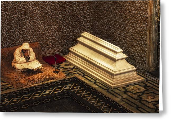 Inside The Mausoleum Of Mohammed V Greeting Card by Lindley Johnson