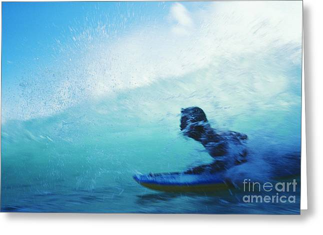 Surfing Photos Greeting Cards - Inside The Wave Greeting Card by Bob Abraham - Printscapes