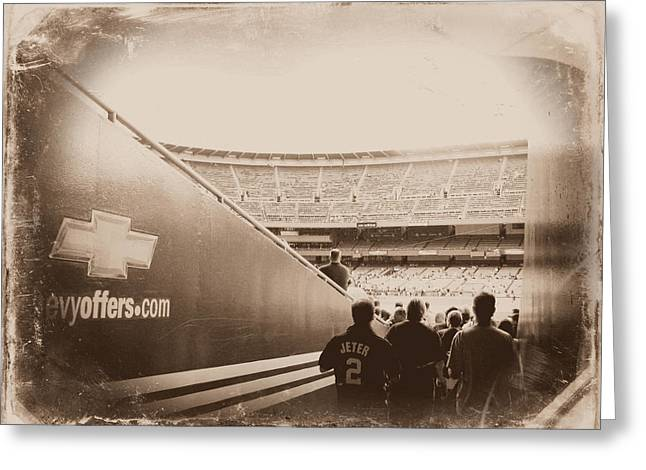 Baseball Stadiums Greeting Cards - Inside The Cathedral Of Baseball III Greeting Card by Aurelio Zucco