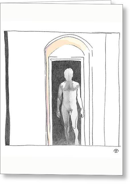 Portal Drawings Greeting Cards - Insomnia 2 Greeting Card by Stan Magnan