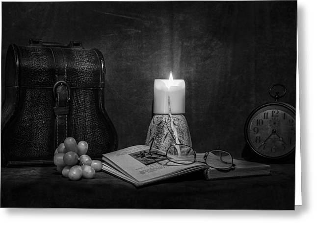 Candle Lit Greeting Cards - Insomnia Greeting Card by Chris Daugherty