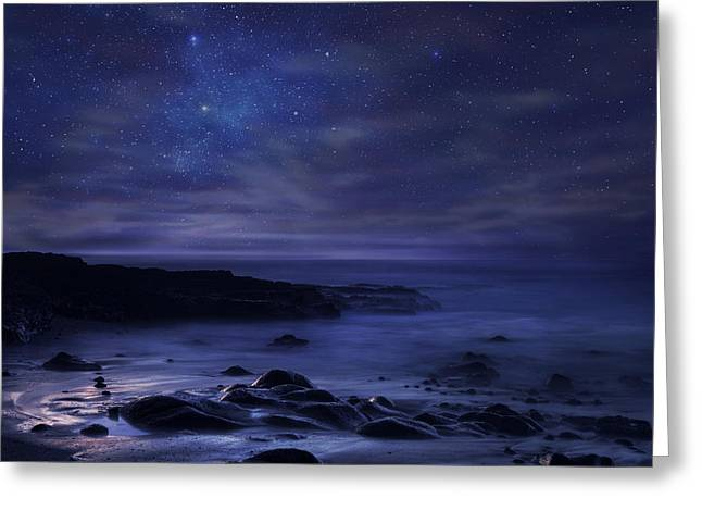 Nightscapes Greeting Cards - Insomnia Greeting Card by Sebastien Del Grosso