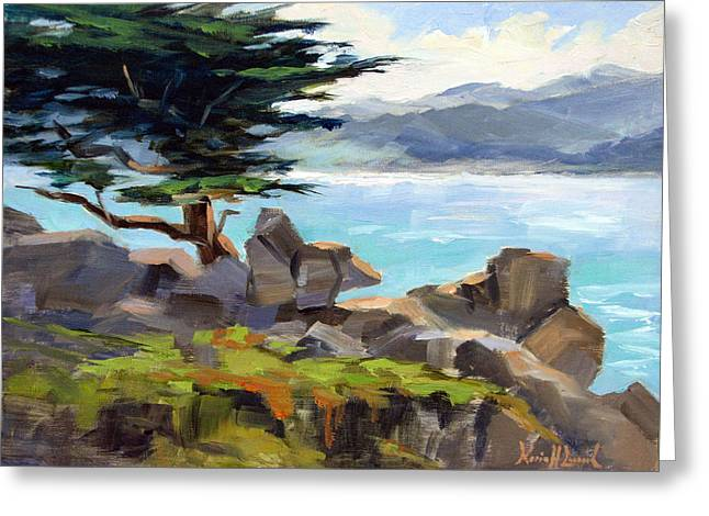 Inspiration At Pescadero Point, Carmel Greeting Card by Karin Leonard