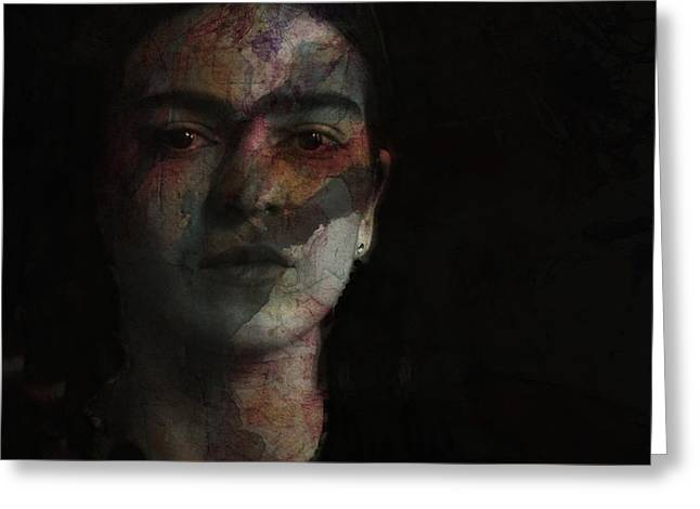 Inspiration Frida Kahlo  Greeting Card by Paul Lovering