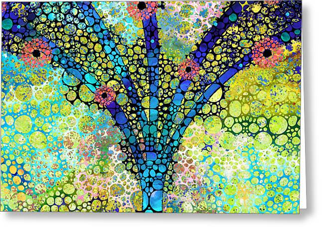 Inspirational Art - Absolute Joy - Sharon Cummings Greeting Card by Sharon Cummings