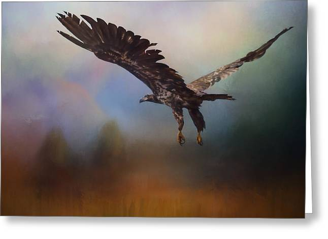 Flying Animal Greeting Cards - Inspirational Art - Colors Of The Wind Greeting Card by Jordan Blackstone