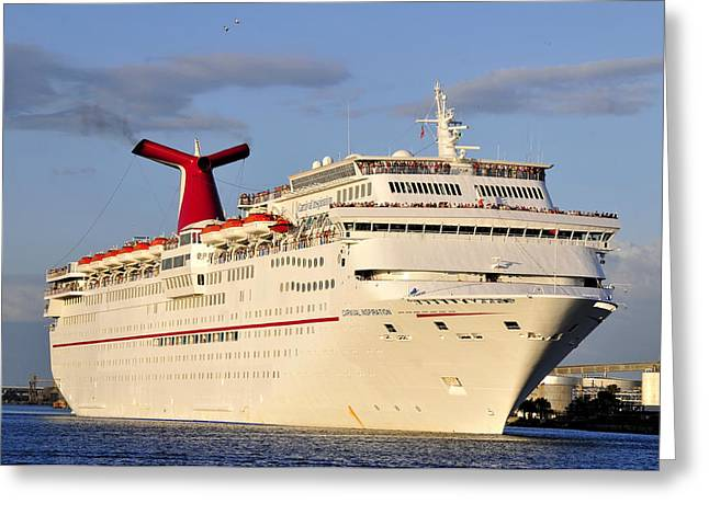 Caribbean Port Greeting Cards - Inspirational Cruise Greeting Card by David Lee Thompson