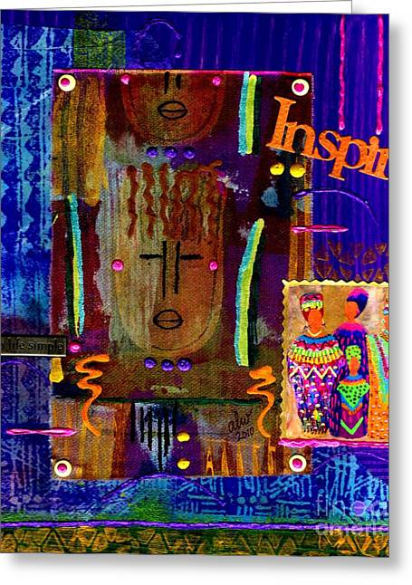 African Inspired Art Greeting Cards - Inspire Greeting Card by Angela L Walker