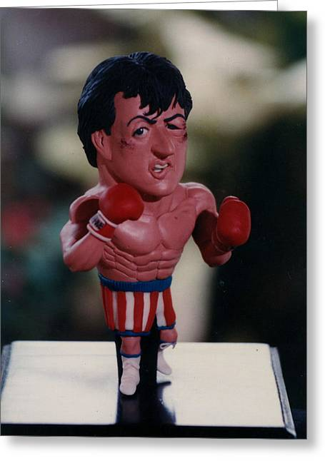 Boxer Sculptures Greeting Cards - Inspired Rocky Greeting Card by Joaquin Carrasquilla