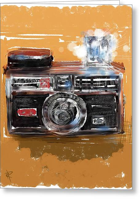 Old Camera Mixed Media Greeting Cards - Instamatic Greeting Card by Russell Pierce