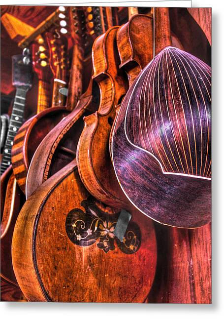 Instrumenti Greeting Card by Frank SantAgata