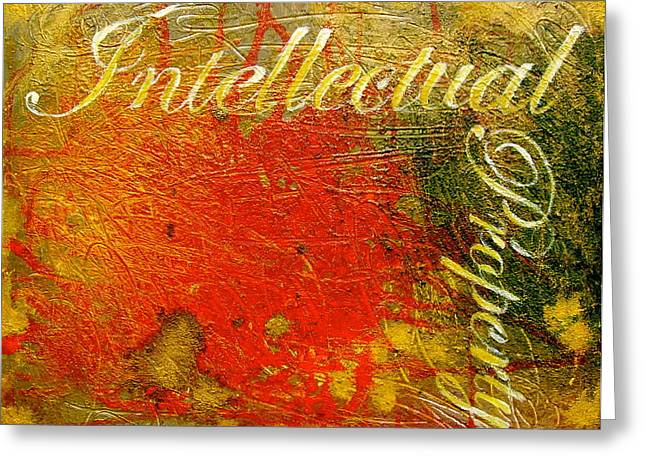 Legal Term Greeting Cards - Intellectual Property Greeting Card by Laura Pierre-Louis