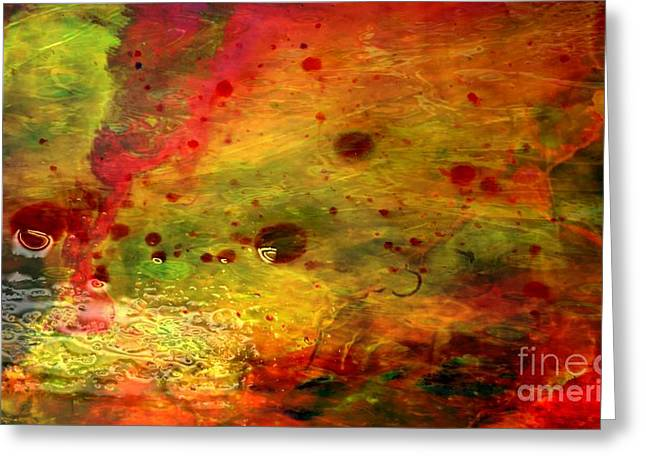 Featured Art Greeting Cards - Intense Energy Greeting Card by TLynn Brentnall