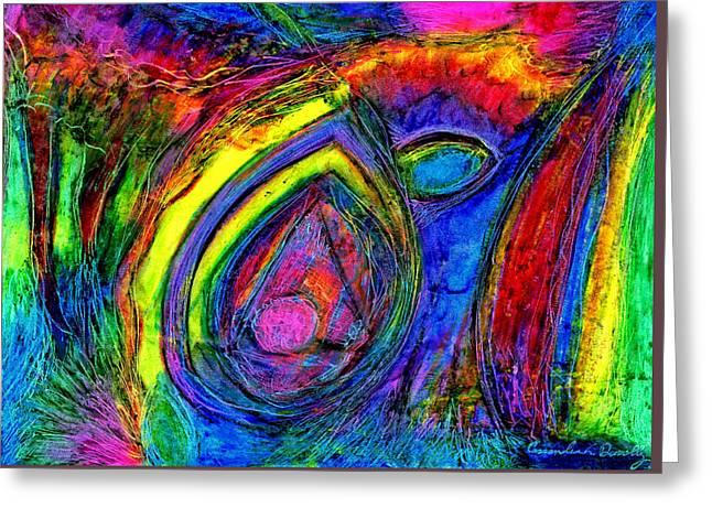 Emotions Pastels Greeting Cards - Intensity of Emotion and Protection Greeting Card by Cassandra Donnelly