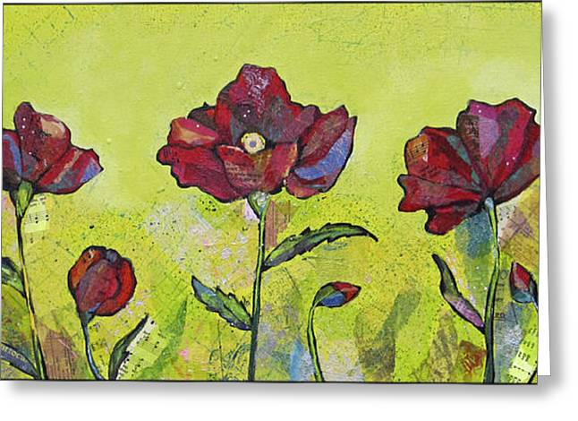 Intensity Of The Poppy I Greeting Card by Shadia Zayed