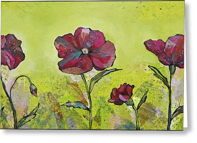 Intensity Of The Poppy II Greeting Card by Shadia Zayed