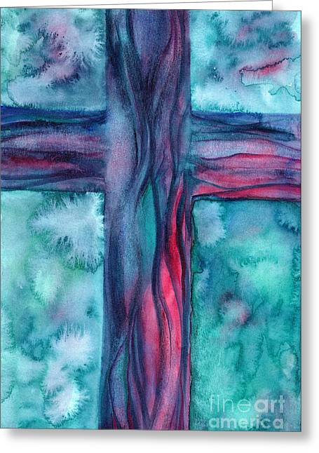Good News Greeting Cards - Intercession Greeting Card by Ruth Borges