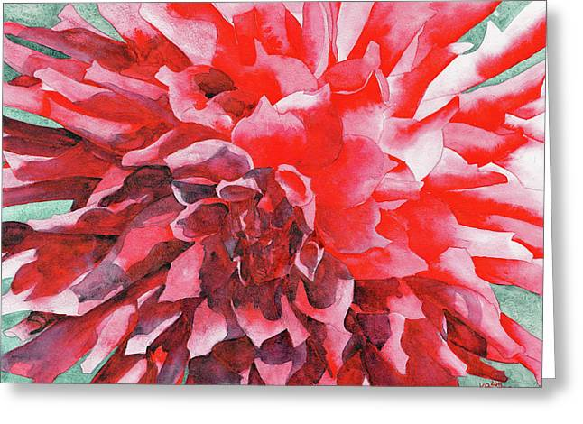 Dahlia Greeting Cards - Interesting Greeting Card by Ken Powers