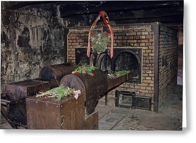 Genocides Greeting Cards - Interior View At Auschwitz Greeting Card by Kenneth Garrett