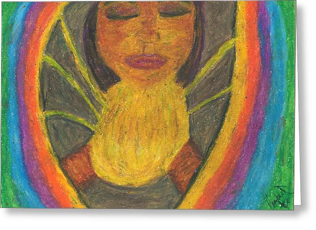Inner Self Pastels Greeting Cards - Internal Light Greeting Card by Candace D Henry