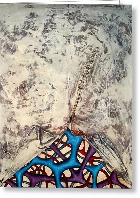 Zipper Greeting Cards - Internally Unzipped Greeting Card by Nancy Mueller