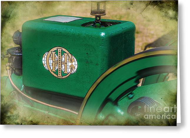 Dynamos Greeting Cards - International Harvester Engine 1 Greeting Card by Darrell Hutto