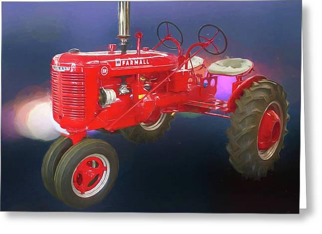 International Harvester Farmall Two Seat Tractor Greeting Card by John Haldane