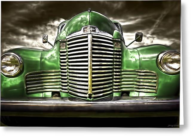 Red Chev Greeting Cards - International Greeting Card by Jerry Golab