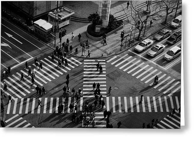 Streets Greeting Cards - Intersection ( Crossing Alternatives ) Greeting Card by C.s.tjandra
