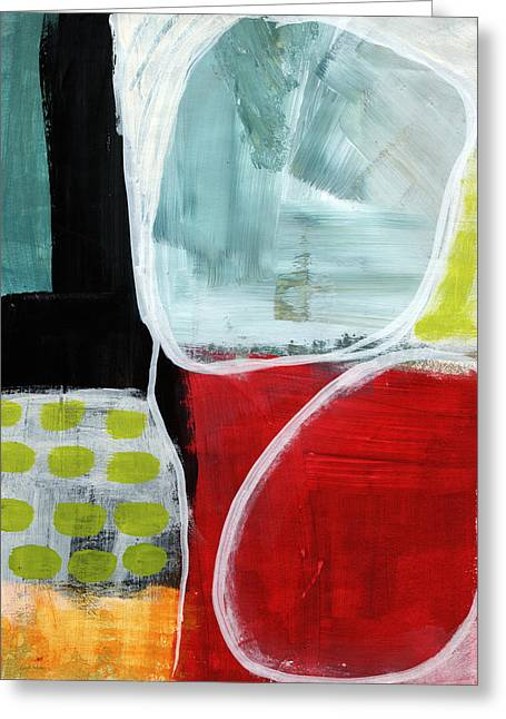 Art For Home Greeting Cards - Intersection 37- Abstract Art Greeting Card by Linda Woods