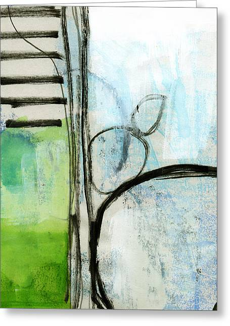 Bedroom Art Greeting Cards - Intersections #35 Greeting Card by Linda Woods