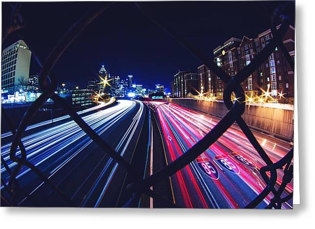 Tron Greeting Cards - Interstate 85 Greeting Card by Tanim Iqbal
