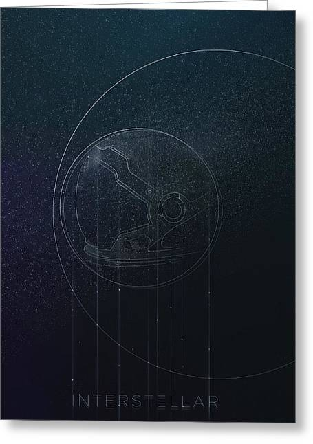 Interstellar Space Greeting Cards - Interstellar movie poster Greeting Card by Lautstarke Studio