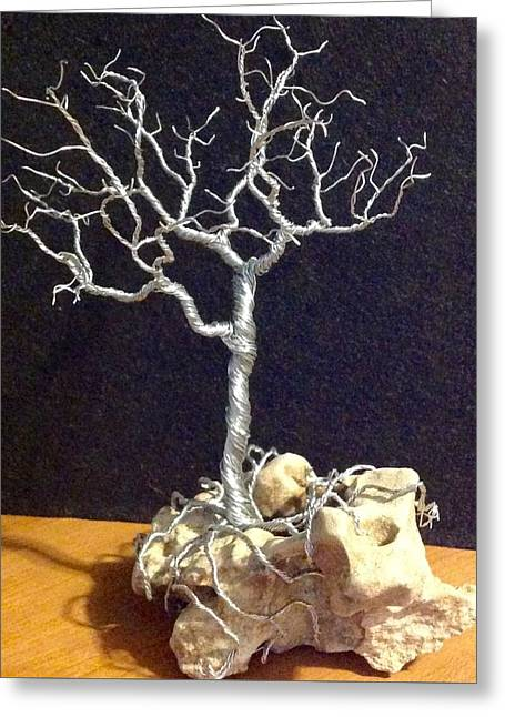 Silver Sculptures Greeting Cards - Intertwined  Greeting Card by Gwendolyn Frazier