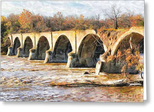 Concrete Bridge Greeting Cards - Interurban Bridge Greeting Card by Jack Schultz