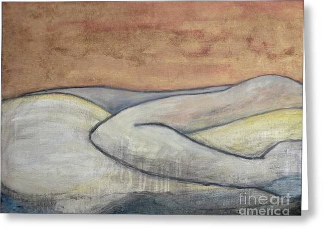 Spooning Greeting Cards - Intimacy  Greeting Card by Michael Stanley