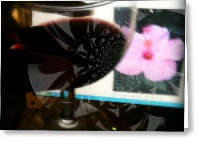 Intimacy With Flowers Greeting Card by Fania Simon