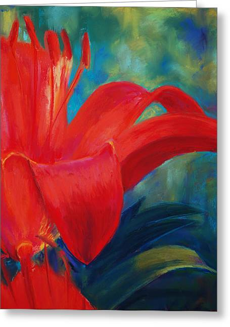 Loveland Artist Greeting Cards - Intimate Lilly Greeting Card by Billie Colson