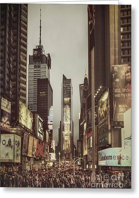 Gotham City Photographs Greeting Cards - Into A Sea Of Souls Greeting Card by Evelina Kremsdorf