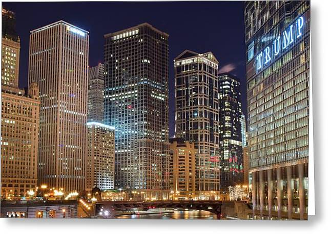 Into Chicago Greeting Card by Frozen in Time Fine Art Photography
