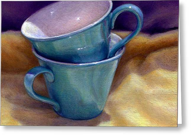 Into Cups Greeting Card by Jane Bucci