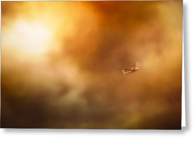 Into Hell Greeting Card by John Hamlon