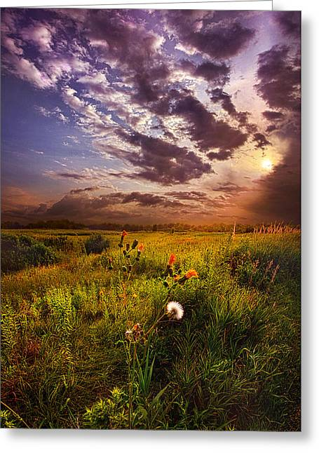 Sun Ray Greeting Cards - Into Paradise May the Angels Lead You Greeting Card by Phil Koch