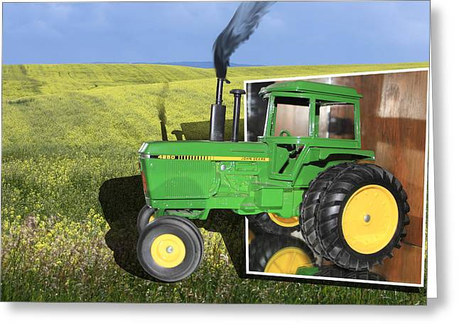 Display Case Greeting Cards - Into The Fields Greeting Card by Shane Bechler