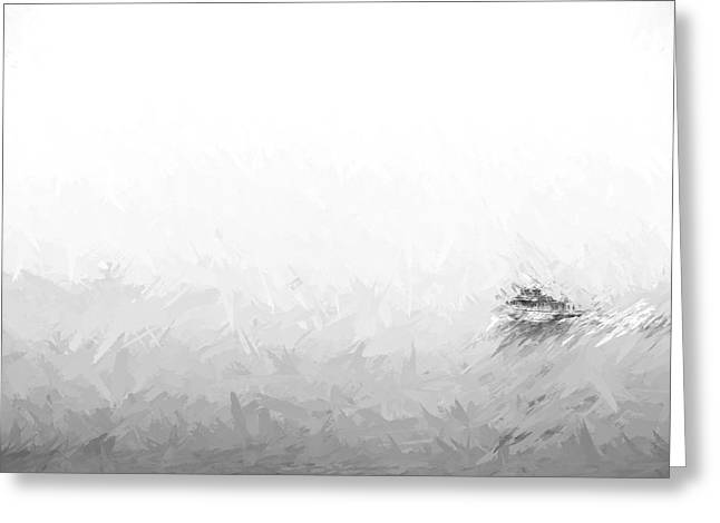 Into The Fog II Greeting Card by Jon Glaser