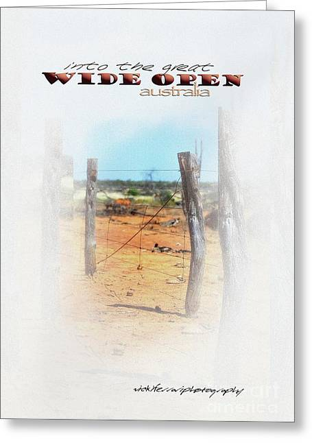 Vicki Greeting Cards - Into The Great Wide Open Australia 1 Greeting Card by Vicki Ferrari