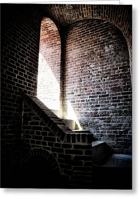 Basement Greeting Cards - Into the Light Greeting Card by Bill Cannon